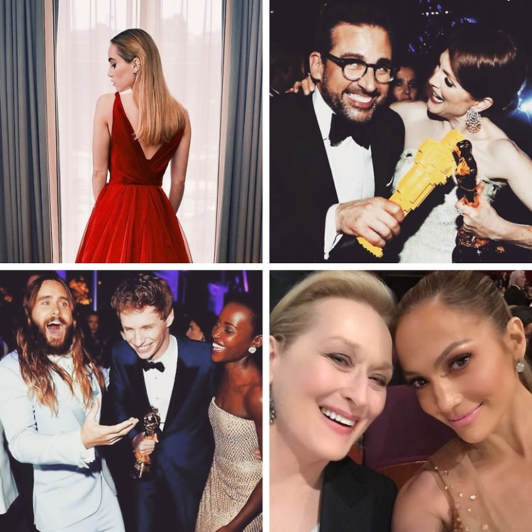 Celebrity Instagrams 2015 Oscars