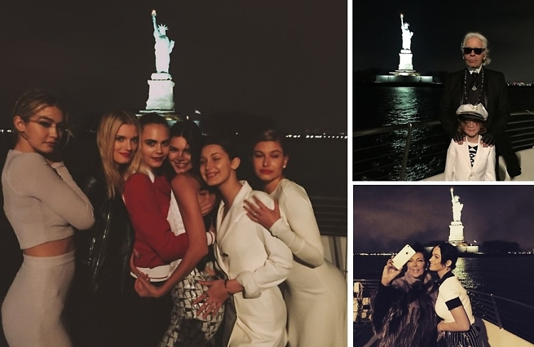 Instagram Round Up: Kendall Jenner, Katy Perry & Gigi Hadid #CruiseWithKarl In NYC