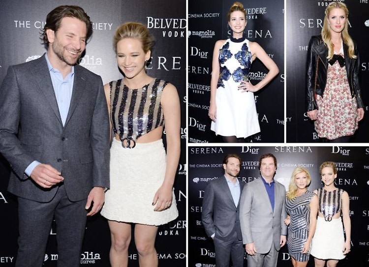 Bradley Cooper & Jennifer Lawrence Share A Laugh On The Red Carpet At The 'Serena' Screening