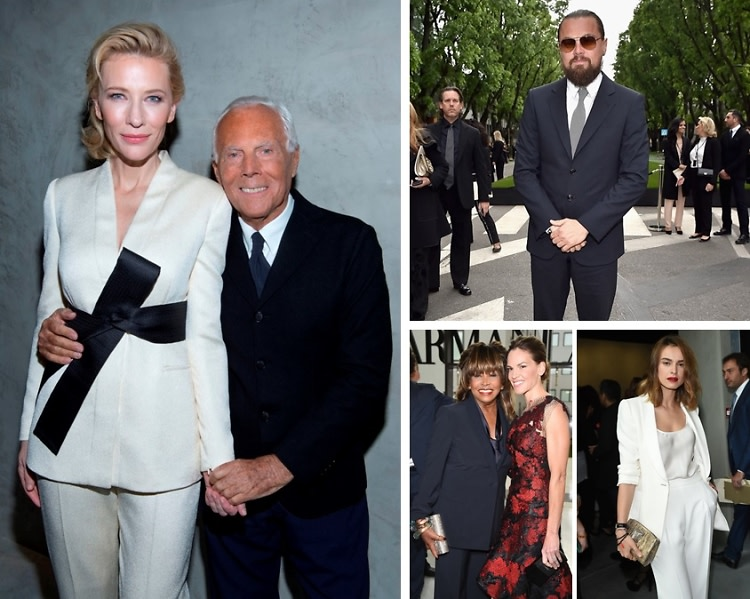Best Dressed Guests: Cate Blanchett & Leonardo DiCaprio At The Armani/Silos Opening