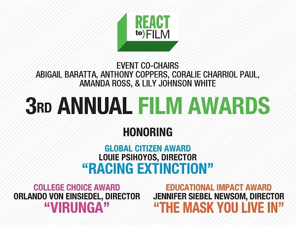 You're Invited! The 3rd Annual REACT to FILM Awards