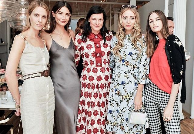 Karen Elson & Lily Aldridge Have A Fashion Week Tea With Tabitha Simmons