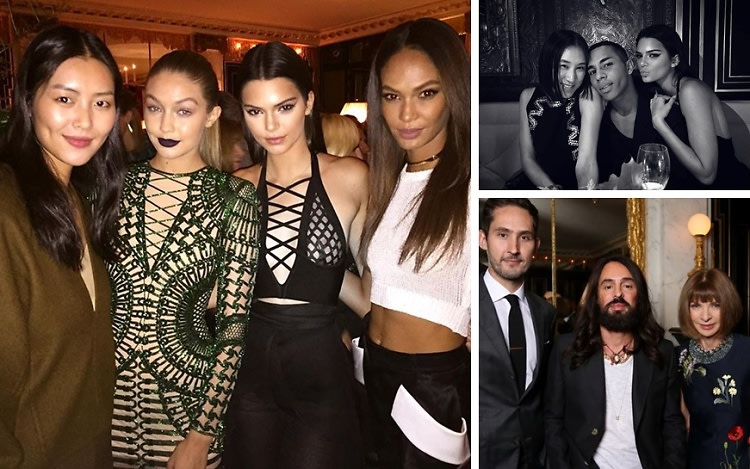 Anna Wintour, Olivier Rousteing & Kendall Jenner Celebrate Instagram In Paris