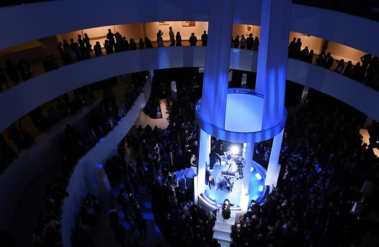 Grimes Performs At The 2015 YCC Guggenheim Gala Pre-Party By Dior