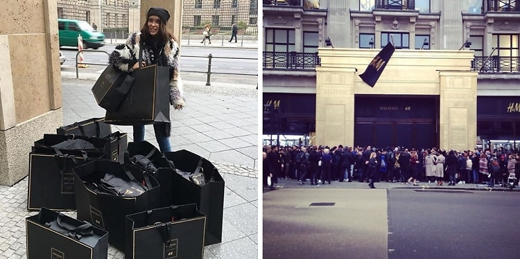 Going Berserk For Balmain X H&M: Scenes From The Chaos