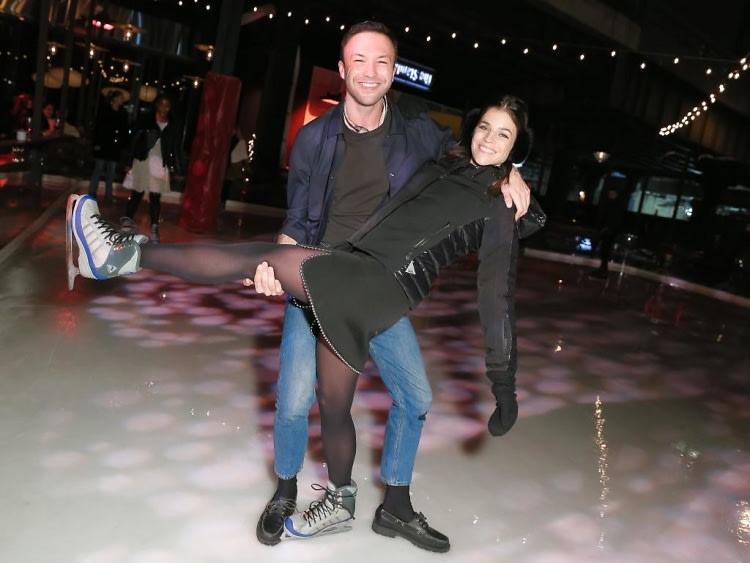 Julia Restoin Roitfeld & Tom van Dorpe Open The Rink At The Standard