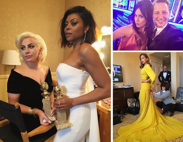 2016 Golden Globes: The Best Celebrity Moments On Instagram