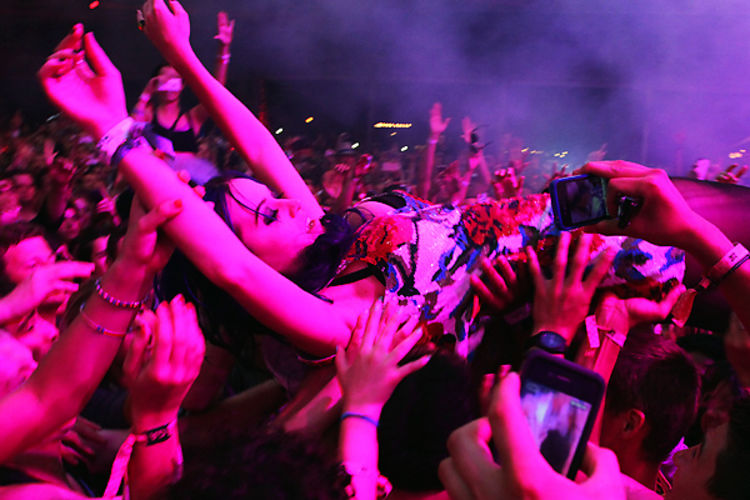 celebrity sightings at coachella katy perry crowd surfs