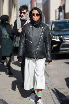 may kwok in New York Fashion Week Street Style: Day 3