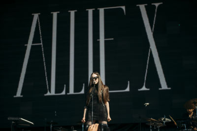 allie x in Shaun White's AIR + STYLE Los Angeles Festival