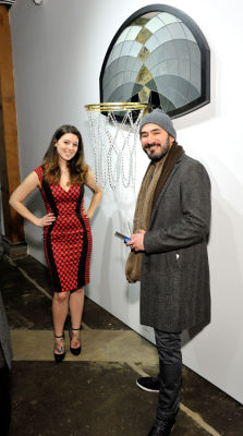 franck de-las-mercedes in Literally Balling Exhibition Opening at Joseph Gross Gallery