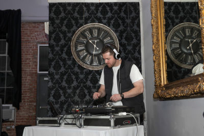 dj 4tify in Levitation Activewear Cocktail Party at Mansion Fitness