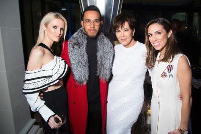 Stefania Allen, Lewis Hamilton, Kris Jenner, Kate Davidson Hudson