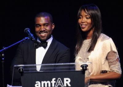 Kanye West, Naomi Campbell