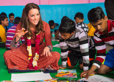 kate middleton in 10 Photos Of Kate Middleton Doing Bizarre Things While Looking Fabulous In India & Bhutan