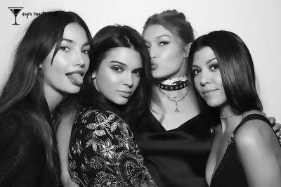 Lily Aldridge, Kendall Jenner, Gigi Hadid, Kourtney Kardashian