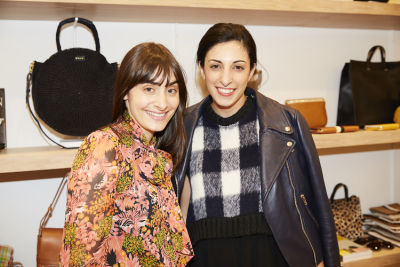 tracy georgiou in Cocktails at Clare V. Cobble Hill Store