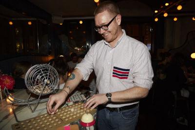 patrick bradbury in Bingo Dinner at June Wine Bar