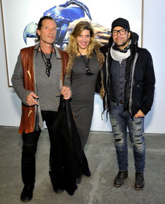 nicola clayton in Eagle Hunters exhibition opening at Joseph Gross Gallery