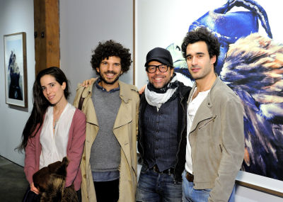 marc azoulay in Eagle Hunters exhibition opening at Joseph Gross Gallery