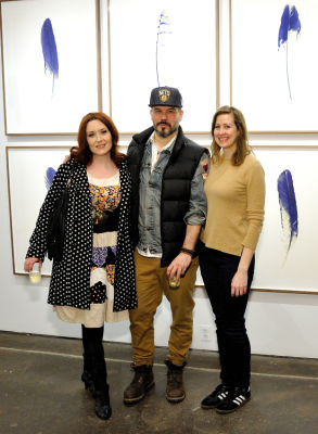 tim okamura in Eagle Hunters exhibition opening at Joseph Gross Gallery