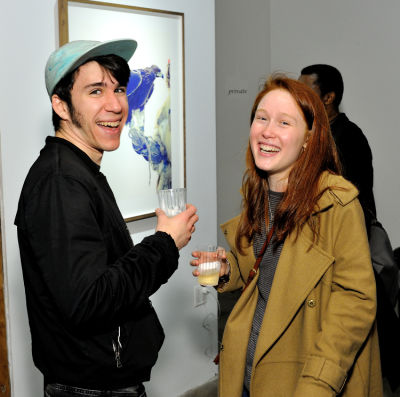 tyler postiglione in Eagle Hunters exhibition opening at Joseph Gross Gallery
