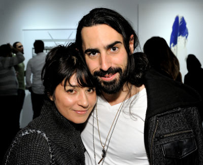 miya ando in Eagle Hunters exhibition opening at Joseph Gross Gallery