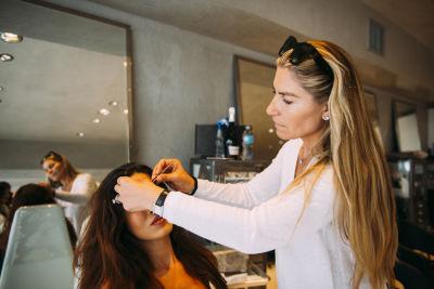 nicoleta barbarasa in Pre-Coachella Beauty Lounge at Brighton Salon with the #RIOTGirls