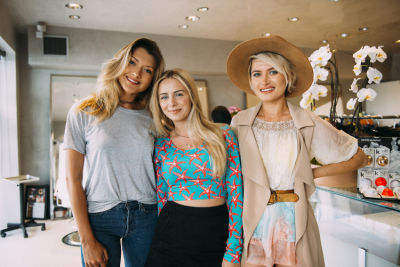 kseniya durst in Pre-Coachella Beauty Lounge at Brighton Salon with the #RIOTGirls