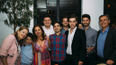 gabbay family in Ohana & Co Success for Progress Dinner