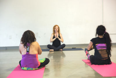 caitlin randolph in  Zumba and Yoga at LA Mother