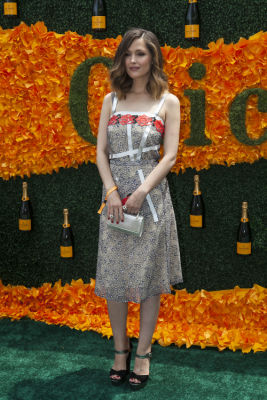 rose byrne in Veuve Clicquot Polo Classic 2016