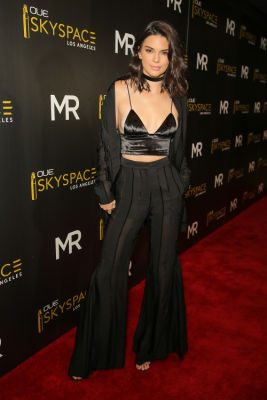 Kendall Jenner hosts The Red Carpet Launch of the OUE Skyspace LA at the US Bank Tower