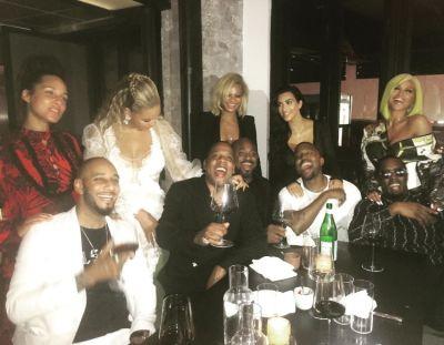 Alicia Keys, Swizz Beatz, Beyonce, Jay-Z, Kanye West, Kim Kardashian, Sean 'Diddy' Combs, Cassie