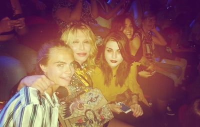 Cara Delevingne, Courtney Love, Frances Bean Cobain