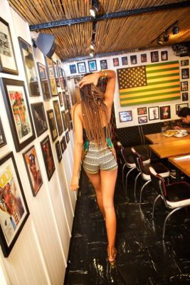 gabija mitchell in The Hottest Waitresses In NYC All Work At One Place