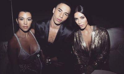 Kourtney Kardashian, Olivier Rousteing, Kim Kardashian