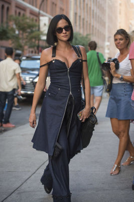leigh lezark in Fashion Week Street Style: Day 1