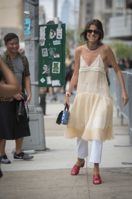 leandra medine in Fashion Week Street Style: Day 2