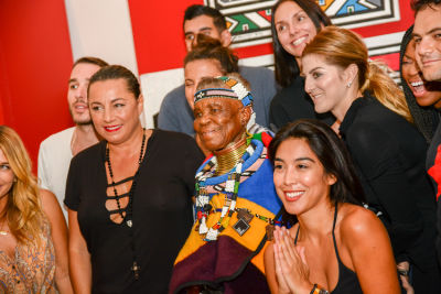 esther mahlangu in Belvedere Celebrates (RED) & South African Artist Esther Mahlangu