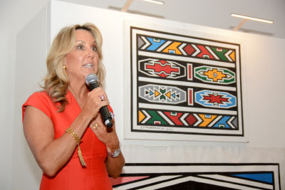 cathy steen in Belvedere Celebrates (RED) and Partnership with South African Artist, Esther Mahlangu at Ace Gallery in Los Angeles [Cocktail Reception]