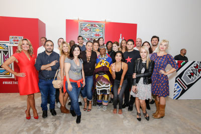 anna vo-lempereur-magazine in Belvedere Celebrates (RED) and Partnership with South African Artist, Esther Mahlangu at Ace Gallery in Los Angeles [Art Class]