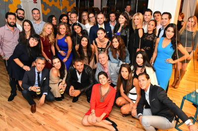olya falls in 1st Annual Fashion Week Shabbat Hosted by Jon Harari