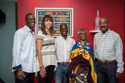 al jones in Belvedere Celebrates (RED) and Partnership with South African Artist, Esther Mahlangu at the Dusable Museum in Chicago
