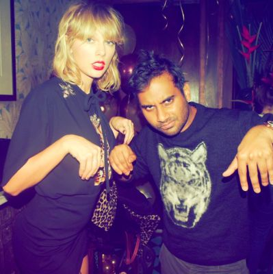 aziz ansari in Taylor Swift Throws Another Party. We're Not Impressed.
