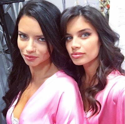 adriana lima in Your Backstage Look At The 2016 Victoria's Secret Fashion Show In Paris