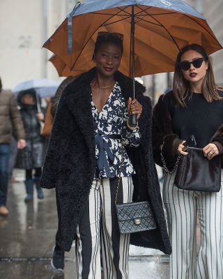 raincoat in Fashion Week Street Style: Day 4 In The Rain