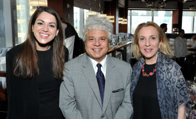 suhel seth in Ohana & Co Success for Progress luncheon 2017 with Kara Ross and Susan Rockefeller