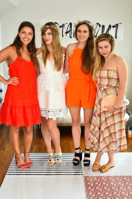 caitlin miller in Crowns by Christy x Nine West Hamptons Luncheon
