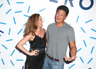 tom choi in House of Peroni LA Opening Night